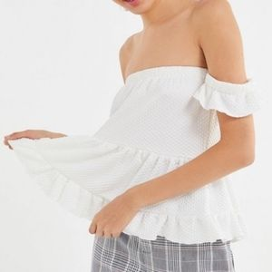 Urban Outfitters ruffle tiered peplum top
